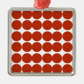 Het ontwerpillustratie van citroenen zilverkleurig vierkant ornament