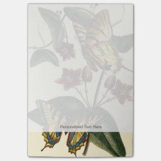 Het ontworpen Schilderen van Vlinders en Bloemen Post-it® Notes