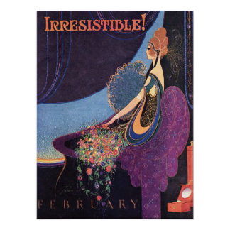 Het Onweerstaanbare Parfum Mavis van het art deco Poster