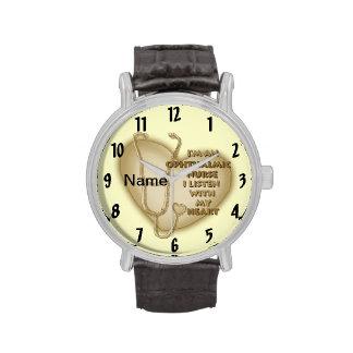 Het oog Gele Hart van de Verpleegster Horloges