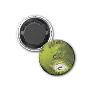 Het oog kan zien koelkast magneetje