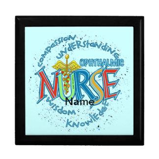 Het oog Motto van de Verpleegster Vierkant Opbergdoosje Large