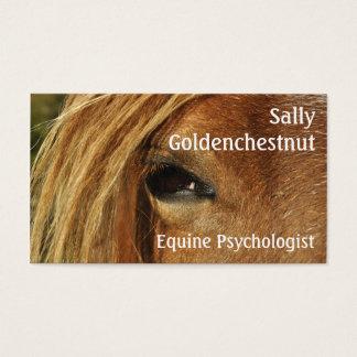 Het oog paardenpsychologie van het paard visitekaartjes