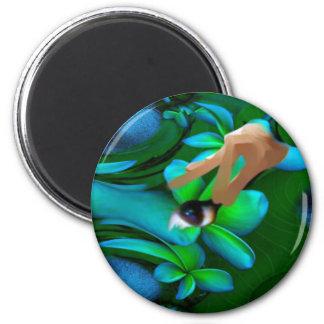 Het oog plukte het Product van Bloemen Koelkast Magneetje