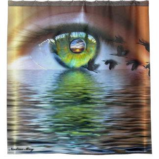 Het oog van Beholder Douchegordijn