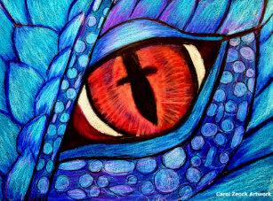 De Blauwe Draak.Mythisch Draken Kunst Posters En Afdrukken Zazzle Nl
