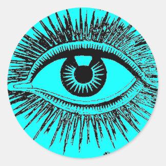 Het Oog van de mysticus ziet Al ICU Ronde Stickers