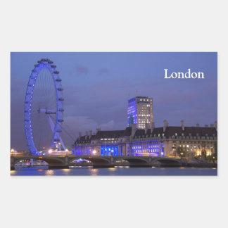 Het Oog van Londen Rechthoekige Sticker