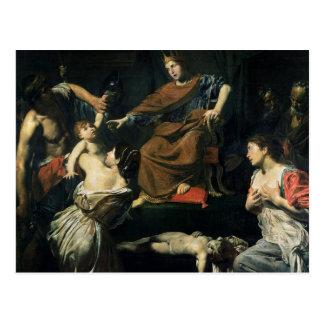 Het oordeel van Solomon Briefkaart
