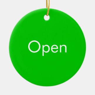 Het open/Gesloten Teken van de Deur Rond Keramisch Ornament