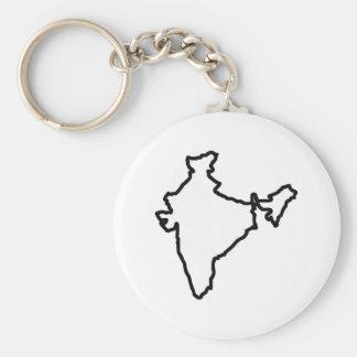 HET OPEN OVERZICHT VAN INDIA SLEUTELHANGER