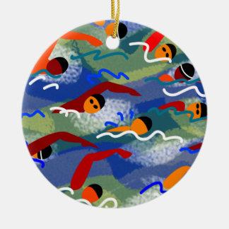 Het open Water zwemt Ornament
