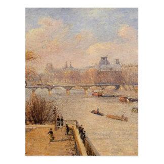 Het opgeheven Terras van Pont Neuf door Camille Briefkaart