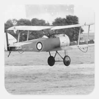Het Opstijgen van het Vliegtuig van Sopwith Vierkante Stickers