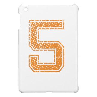 Het oranje Aantal 05.png van Jerzee van Sporten Hoesjes Voor iPad Mini