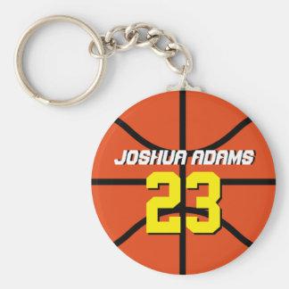 Het oranje Basketbal Keychain van de Atleten van Sleutelhanger