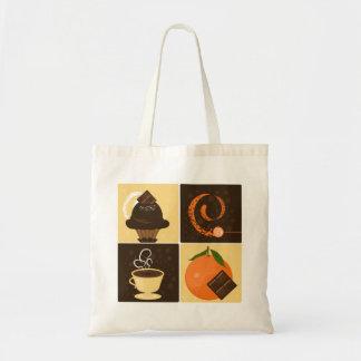 Het oranje Bolsa van de Chocolade Draagtas