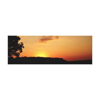 Het oranje Canvas Pring van de Horizon van de