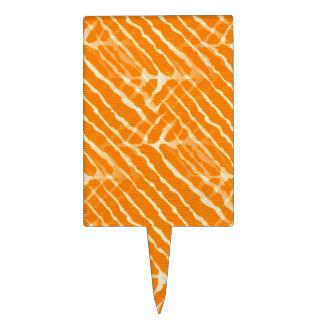 Het oranje Canvas van de Strepen van de Tijger Cake Topper