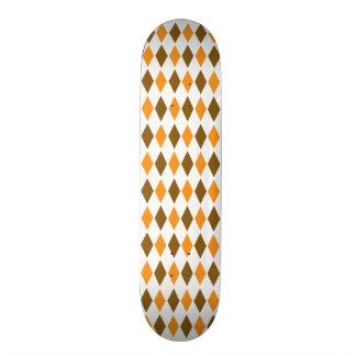 Het oranje en Bruine Retro Ontwerp van het Patroon Skate Decks