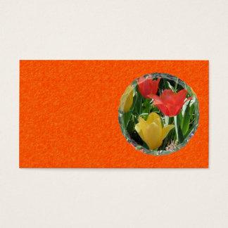 Het oranje en Gele Visitekaartje van Tulpen