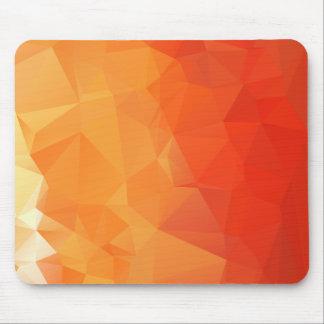 Het oranje en Rode Patroon van het Facet Muismatten