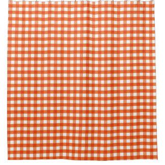 Het oranje en Witte Patroon van de Gingang Douchegordijn