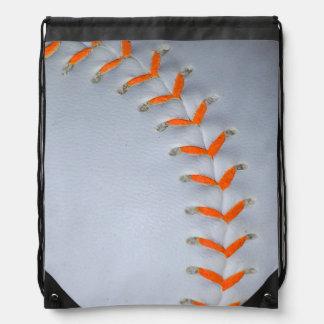 Het oranje Honkbal/het Softball van Steken Gymtasje