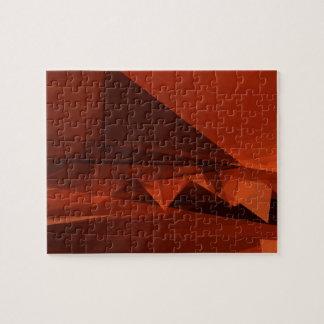 Het oranje Lage Poly Artistieke Patroon Puzzel