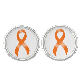 Het Oranje Lint van de leukemie Manchetknopen