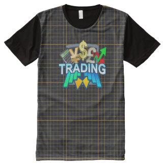 Het oranje net van de handel Al Gedrukte T-shirt