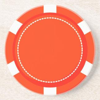 Het oranje Onderzetter van het Zandsteen van de Sp