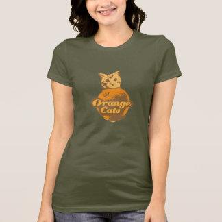 Het oranje overhemd van Katten T Shirt