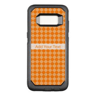 Het oranje Patroon van de Diamant van de OtterBox Commuter Samsung Galaxy S8 Hoesje