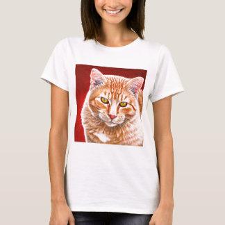 Het oranje Schilderen van de Gestreepte kat T Shirt