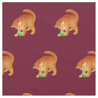Het oranje Spelen van de Kat van het Kat met de Stof