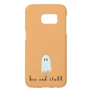 """Het Oranje Spook Halloween van het """"boe-geroep en Samsung Galaxy S7 Hoesje"""