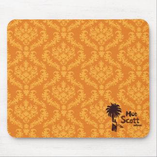 Het oranje Stootkussen van de Muis van het Damast  Muismatten