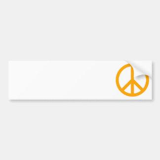 Het oranje Symbool van de Vrede Bumpersticker