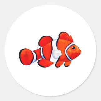 Het Oranje Vero Strand van vissen 2010 de Gift van Ronde Sticker