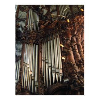 Het orgaanbriefkaart van de Kathedraal van Oliwa Briefkaart