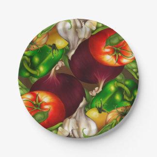 Het Organische Natuurlijke Voedsel Veggies van Papieren Bordje