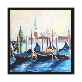 Het originele Acryl Schilderen van Gondels door St Canvas Afdrukken