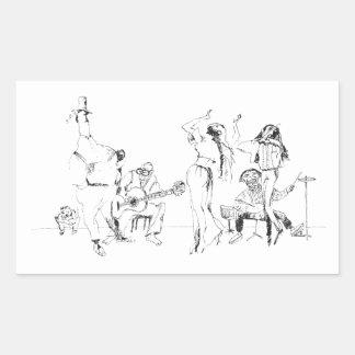 Het Orkest van de straat Rechthoekige Sticker