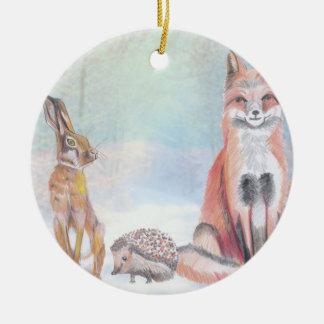 Het ornament dat van Kerstmis een vos, egel