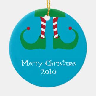 Het Ornament van de Benen van het Elf van Kerstmis