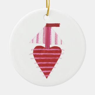 Het Ornament van de Boot van Loveheart