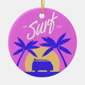 Het ornament van de de douanetekst van Surfer van
