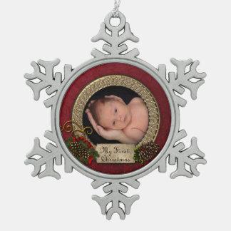 Het Ornament van de Foto van Eerste Kerstmis van