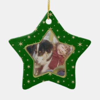 Het ornament van de fotoKerstmis van de ster